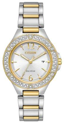 Citizen Women's Silhouette Crystal Silver Dial Watch, 31mm