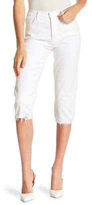 Mother Almost Saint Distressed High-Rise Pant