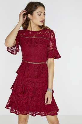 Girls On Film Bibi Tiered Lace Shift Dress