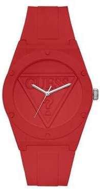 GUESS U0979L3 Active Life Red Silicone Analog Watch