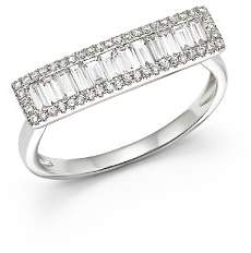 Bloomingdale's Diamond Round & Baguette Ring in 14K White Gold, .60 ct. t.w - 100% Exclusive