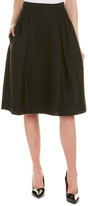 Carolina Herrera Silk-Lined A-Line Skirt