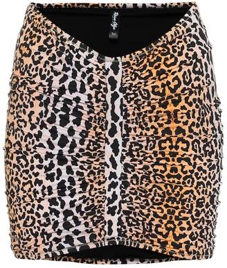 Reina Olga Geraldina leopard-print skirt