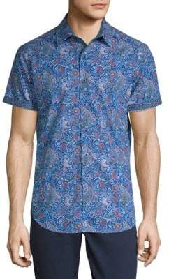 Robert Graham Paisley-Print Cotton Button-Down Shirt