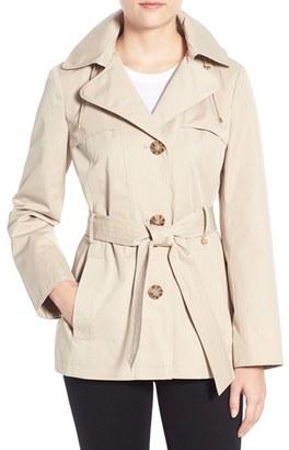 Women's Ellen Tracy Cotton Blend Short Trench Coat $168 thestylecure.com