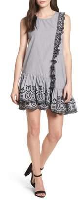 BP Lace Trim Drop Waist Dress