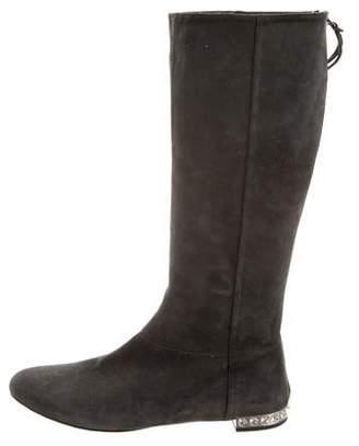 Miu Miu Suede Mid-Calf Boots