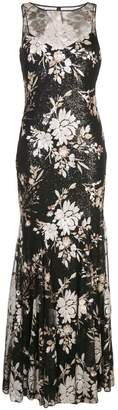 Badgley Mischka sequinned empire line dress