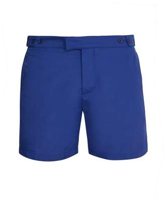 Frescobol Carioca - Tailored Swim Shorts - Mens - Navy