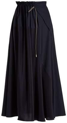Roksanda Misha Drawstring Maxi Skirt - Womens - Navy