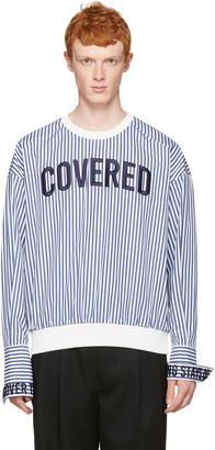 Juun.J White Striped 'Covered' Pullover $610 thestylecure.com