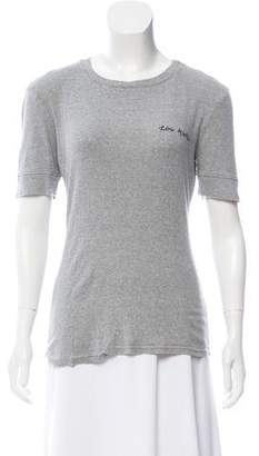 Frame Embroidered Crew Neck T-Shirt