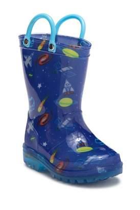 LILLY OF NEW YORK Cosmic Light-Up Rain Boot (Toddler & Little Kid)