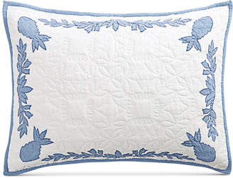 Martha Stewart Collection Aloha Blue Cotton Reversible Standard Sham