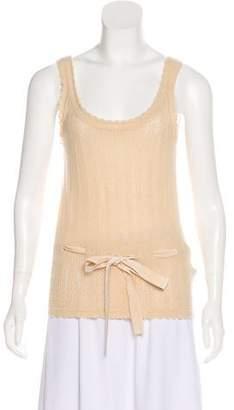 Ralph Lauren Black Label Cashmere Sleeveless Knit Top