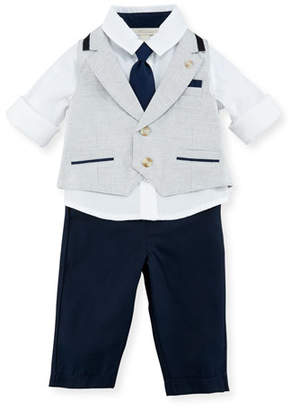 Miniclasix Mock-Vest Shirt w/ Pants, Gray, Size 3-24 Months