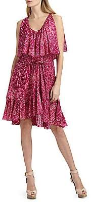 Cynthia Steffe Women's Carey Printed Silk Chiffon Dress