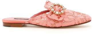 Dolce & Gabbana Lace Jackie Slippers