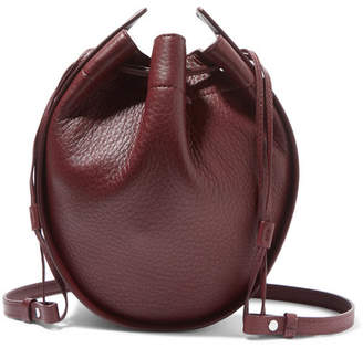 The Row Textured-leather Bucket Bag - Burgundy