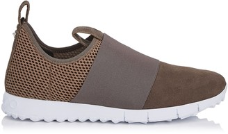 Jimmy Choo OAKLAND/M Smoke Mesh and Suede Trainers