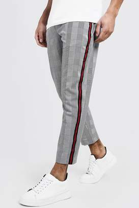 boohoo Woven Cropped Jogger With Side Tape