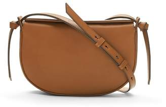 Banana Republic Structured Leather Half-Moon Crossbody