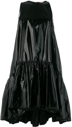No.21 shiny tiered mini dress