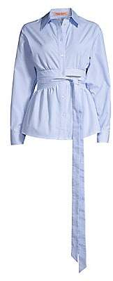 Maggie Marilyn Women's Your Direction Tie-Waist Button-Down Blouse