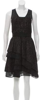 J. Mendel Virgin Wool-Blend Mini Dress