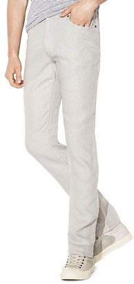 John Varvatos Star USA Authentic Slim Straight Fit Jeans in Concrete $158 thestylecure.com