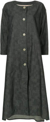 Anrealage right hand left hand dungaree coat