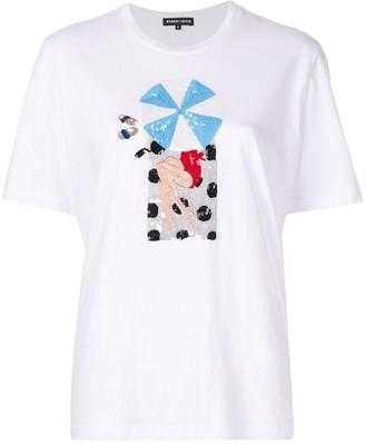 Markus Lupfer Alex Beach Girl sequin T-shirt
