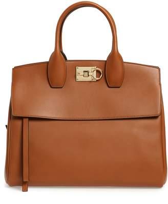 e45776f96665 Salvatore Ferragamo Medium The Studio Calfskin Leather Top Handle Bag