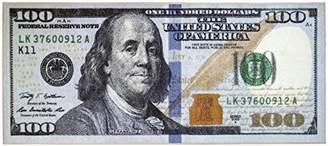Ottomanson New Rugs One Hundred Dollar ($100) Bill Print New Benjamin Non-Slip Area Rug Runner