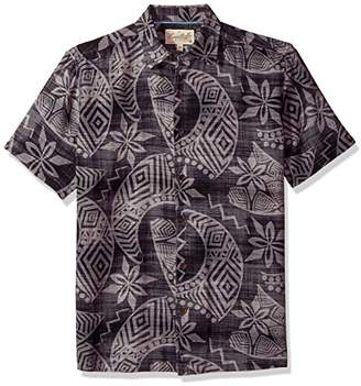 Margaritaville Men's Short Sleeve Hawaiian Print Shirt
