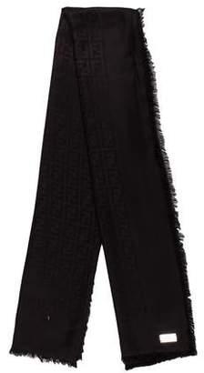 Fendi Zucca Silk and Wool Shawl