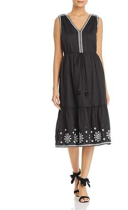 Kate Spade Mosaic Embroidered Midi Dress
