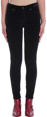 Mauro Grifoni Nora Black Velvet Cotton Pants