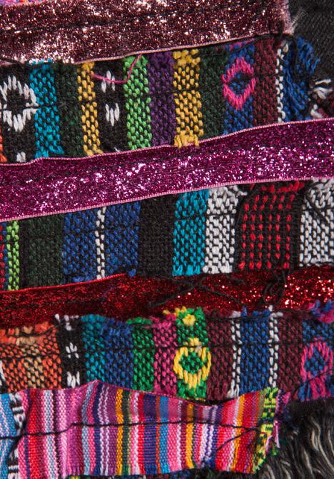 One Teaspoon Matador ZZ's Medium Rise Destroyed Embellished Denim Shorts