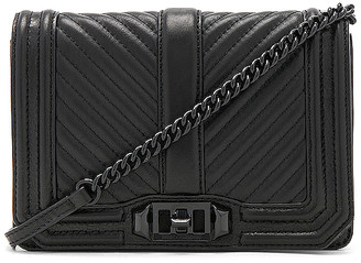 Rebecca Minkoff Chevron Quilted Small Love Crossbody Bag in Black. $195 thestylecure.com