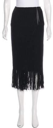 Maiyet Fringe-Trimmed Midi Skirt