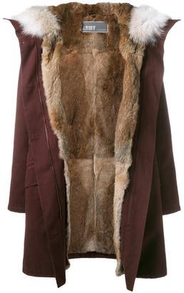 Yves Salomon Classic Rabbit Fur-Lined Parka $1,877 thestylecure.com