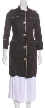 Giambattista Valli Linen Knee-Length Coat