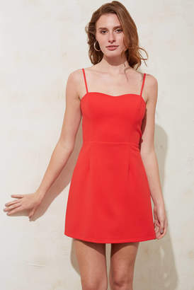 French Connection Red Summer Whisper Light Mini Dress Red 4