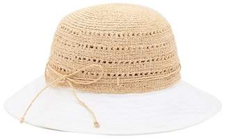 Helen Kaminski Kessy Rollable & Packable Raffia Crown Hat