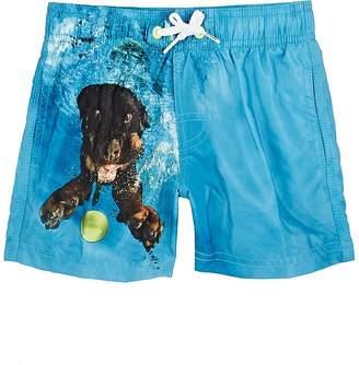 Sundek Kids' Dog-Print Swim Trunks