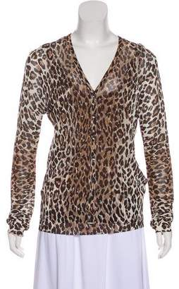 Dolce & Gabbana Leopard Cardigan Set