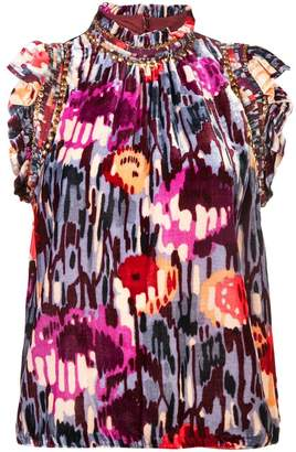 Ulla Johnson disco print sleeveless blouse