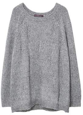 Violeta BY MANGO Lurex knitted sweater
