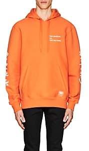 Wu Wear Men's Logo Fleece Hoodie-Orange